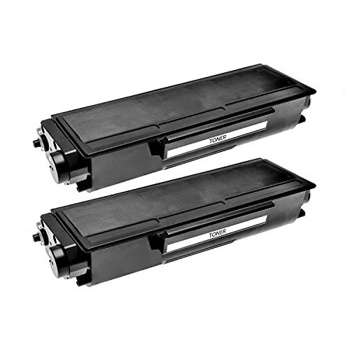 Logic-Seek 2 Toner TN-3280 kompatibel für Brother HL-5350DN HL5340D HL5370WD HL5380DN DCP-8080DN 8085DN 8880DN 8890DW MFC-8370DN 8380DN - TN3280 - Schwarz je 8.000 Seiten