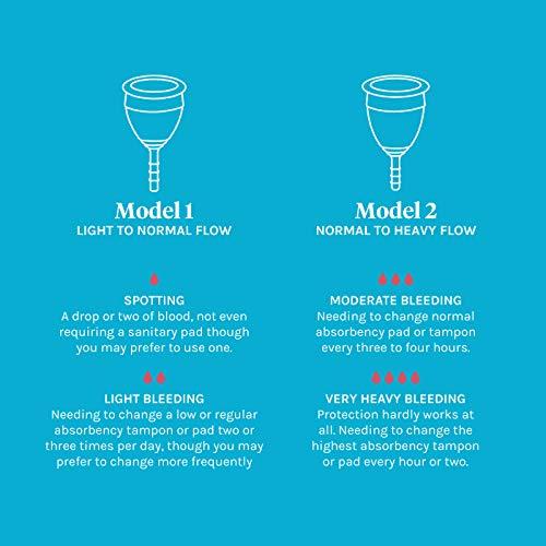 Lunette Menstruationstasse Selene – blau – Modell 2: Für normale bis starke Blutung – Ganz ohne Fadenspiel - 3