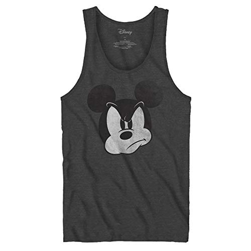 Mad Mickey Mouse Tank Top Adult Tee Graphic T-Shirt for Men Tshirt (Charcoal Heather, Medium)