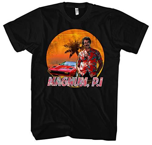 Magnum Männer und Herren T-Shirt | Spruch Kostüm Hemd Geschenk ||| M2 (4XL, Schwarz)