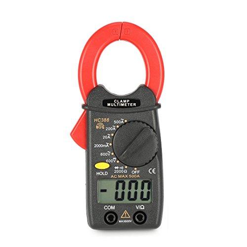 HC388 Mini multímetro de pinza amperimétrica AC/DC Voltaje de corriente Ohm Diodo probador 1999 cuenta de datos Hold Handheld