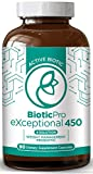 Biotic Pro Exceptional 450 | Weight Loss x4 in 1 Solution | Probiotic Bio Dietary Supplement Digestive Enzymes | Green Tea Extract | Natural & Non-GMO | 90 Vegetarian Capsules