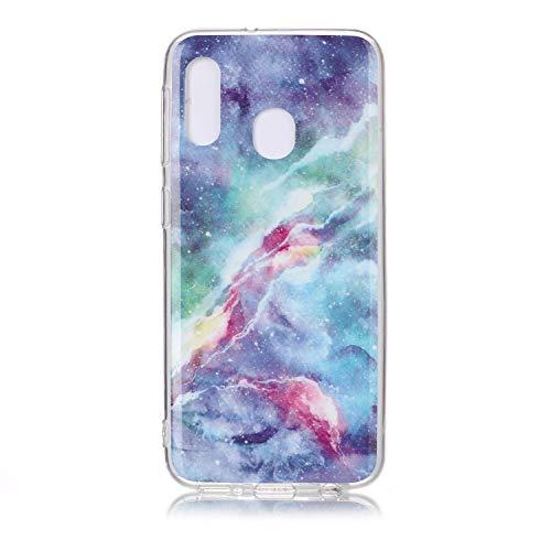 Karomenic Silikon Hülle kompatibel mit Samsung Galaxy A20e Ultra Slim Dünn Schutzhülle Marmor Muster Weiche TPU Handyhülle Stoßfest Kratzfest Stoßfest Bumper Cover Schutz Tasche Schale,#1