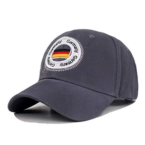 Gorra Algodón Bandera de Alemania Marca Hombres Gorra de béisbol Mujeres Snapback Gorras Sombreros para Hombres Bone Casquette Fit Gorras Papá Gorra de béisbol Masculina Gorra Darkgray