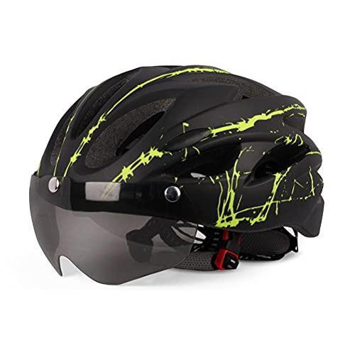 Hahepo Casco de bicicleta de carreras con visera magnética, transpirable, para patinaje, patinete, patinete, longboard o BMX.