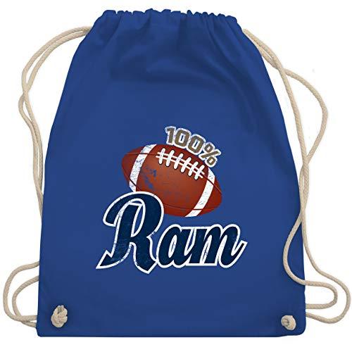 Shirtracer American Football - 100% Ram - Unisize - Royalblau - football turnbeutel - WM110 - Turnbeutel und Stoffbeutel aus Baumwolle