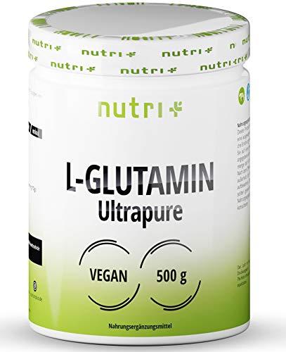 L-GLUTAMIN Pulver 500g Vegan - Neutral & hochdosiert Ultrapure ohne Zusatzstoffe - 99,95% natur rein - Fermentiertes L-Glutamine Powder - Aminosäure - glutenfrei & laktosefrei