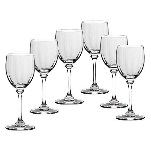 CRISTALICA Weinglas 6er-Set Condor Optik 120ml Weinkelch Weißwein Rotwein Bleikristall klar