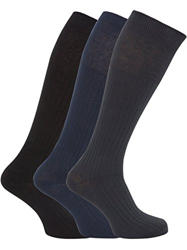 HDUK Mens Socks Herren Kniestrumpf Dark Assorted