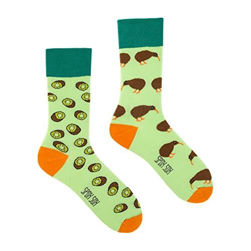 Spox Sox Casual Unisex - mehrfarbige, bunte Socken für Individualisten, Gr. 40-43, Kiwi