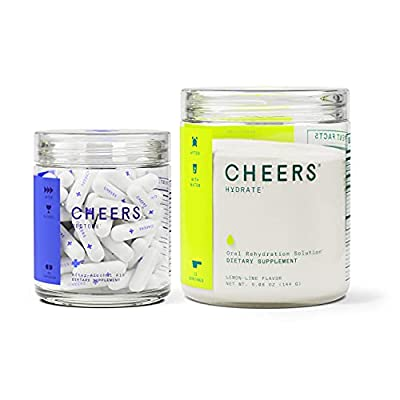Cheers Restore & Hydrate Combo | for Fast Liver Detox & Rehydration. Feel Great After Drinking & Replenish with Our Electrolyte Formula (Single) from Cheers