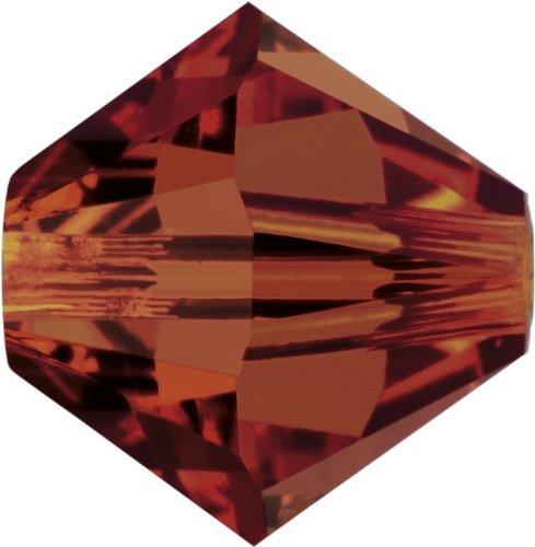 Original Swarovski Elements Beads 5328 mm, 4,0, in mm, diámetro: 4 mm; Packing Unit: 1440 piezas., Crystal Red Magma (001 REDM)
