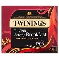英国トワイニング 1706ストロングブレックファースト紅茶 250g 80ティーバッグ TWININGS 1706STRONG BREAKFAST TEABAGS【海外直送品】【並行輸入品】