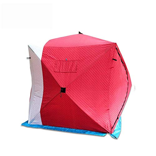 Namiot Namiot zimowy Zimowy odkryty Wędkarstwo podlodowe Pikowany ciepły namiot dla 4 osób Zagęszczony namiot z zimnej bawełny Akcesoria do wędkowania pod lodem do wędkowania na zewnątrz Camping Bez
