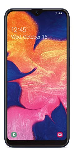 (Free $35 Airtime Activation Promotion) Total Wireless Samsung Galaxy A10e 4G LTE Prepaid Smartphone (Locked) - Black - 32GB - SIM Card Included - CDMA