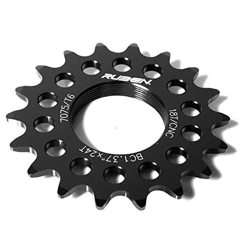 Piñon Fijo de Bicicleta Fixie Ruder Berna 16T Aluminio Negr