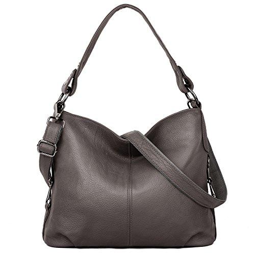 YALUXE Genuine Leather Shoulder Bag Stylish Womens Crossbody Travel Top-Handle