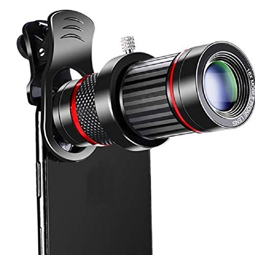Lente De Teleobjetivo con Zoom 18X 4K HD Lente De Cámara De Teléfono con Telescopio Monocular De Metal