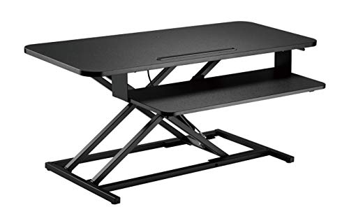 """VERGO Standing Desk Converter Kit, Adjustable Height, 37"""" Wide Monitor and Computer Riser with Standard Keyboard Tray"""