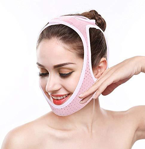 Adelgazante Facial Vendajes de Cara mascarilla para Adelgazar Papada Reductor y Antiarrugas cuidado facial piel compacto V-line (M)