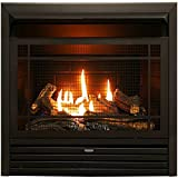 Duluth Forge Vent Free Dual Fuel Ventless Gas Fireplace Insert-26,000 BTU, Remote Control, FDF300R, Black