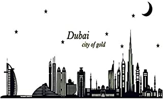 Removable Dubai Silhouette Luminous Stickers Fluorescent Wall Stickers