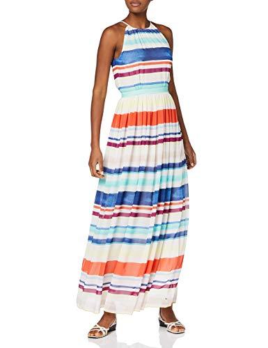 Tommy Hilfiger Damen Plissee Kleid, AGATHA CHIFFON MAXI DRESS Maxi , Gr. 38 (Herstellergröße: 8), Mehrfarbig (LEE STP 152)
