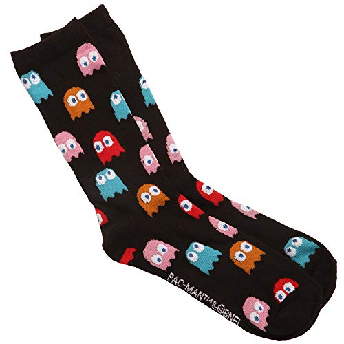 Adults Pac-Man Ghosts Socks, Licensed, Size 6-12