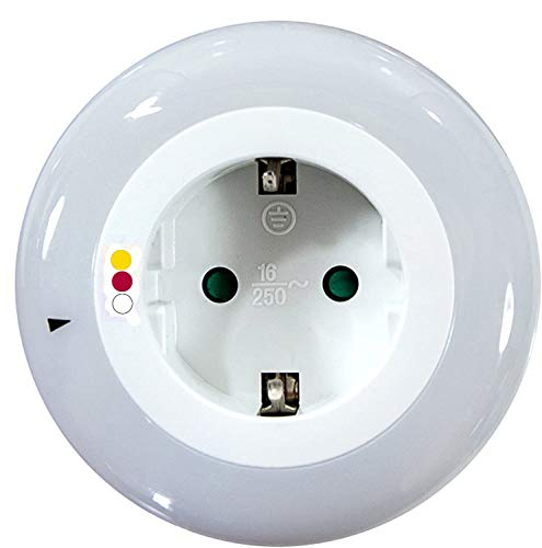 IG LED Nachtlicht, Steckdose mit Kindersicherung, 9 LEDs, Dämmerungssensor, Kabellos … (Rot-Gelb-Weiß)
