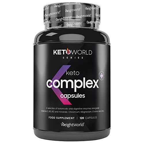 Keto Complex 120 Gélules pour Régime Cétogène Keto - Complément Alimentaire 100 % Naturel – Métabolisme,...