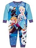 Disney Mädchen Schlafoveralls Frozen Mehrfarbig 128