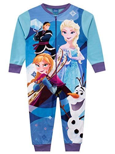 Disney Pigiami Interi a Maniche Lunghe per Ragazze Frozen Multicolore 7-8 Anni