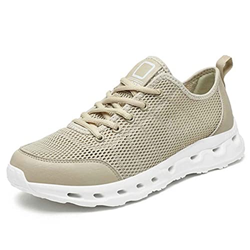 Zapatos Deporte Mujer Verano Exterior Zapatillas Deportivas Correr Gimnasio Casual Sandalias para Caminar Mesh Running Transpirable Aumentar Más Altos Sneakers para para jardín,Fiesta,Pool
