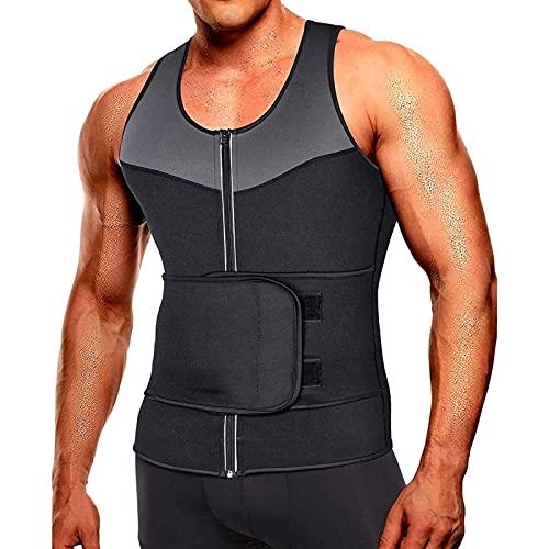 Yokbeer Chaleco De Sudor para Hombre Corsé para Hombre Chaleco de Fitness para el Vientre Camiseta Sin Mangas para Quemar Grasa Chaleco Adelgazante para Sauna para Hombre