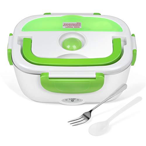 Yissvic Elektrische Lunchbox Speisenwärmer Edelstahl Warmhaltebox Tragbare 1,5L Food Box für Nahrung(Verpackung MEHRWEG)