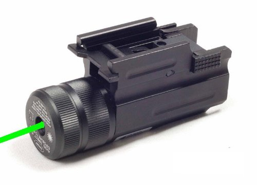 Ade Advanced Optics Compact Pistol Green Laser with Quick Release Weaver Mount