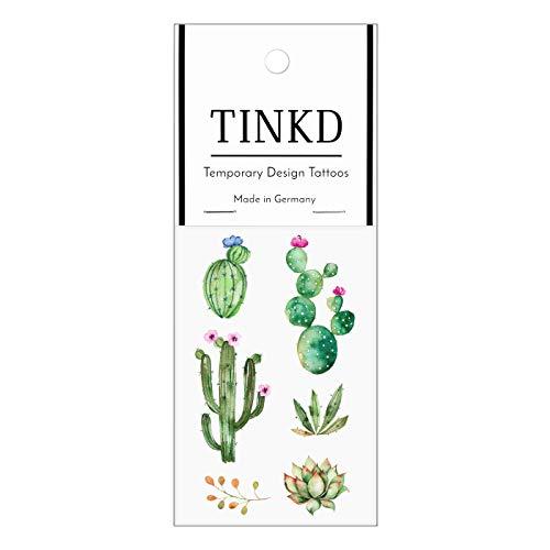 TINKD Abziehtattoo Kaktus | Kakteen Tattoos für Deine Haut | Made in Germany