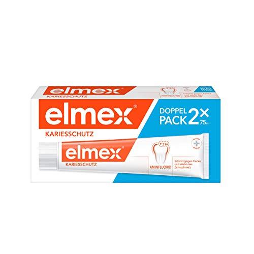 elmex Zahnpasta KARIESSCHUTZ, Doppelpack (2 x 75 ml) - Zahncreme zum Schutz gegen Karies