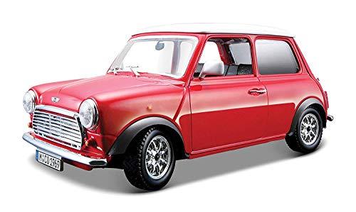 BBurago - 22011 - Voiture sans pile - Reproduction - Mini Cooper 1969 - échelle 1/24 - Couleur aléatoire