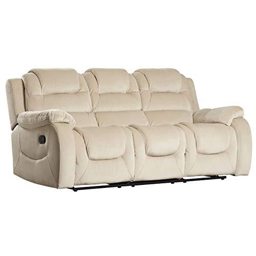 Sunset Trading Aspen Reclining Sofa, beige