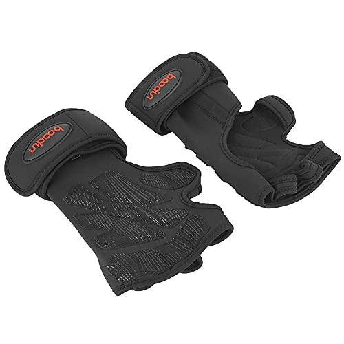 1 par de aptitud apretones de levantamiento de pesas guantes mujeres hombres ejercicio mano palma protectores L/XL guantes de levantamiento de pesas