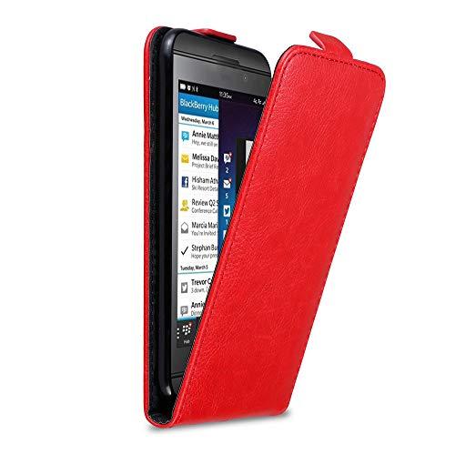 Cadorabo Hülle für BlackBerry Z10 in Apfel ROT - Handyhülle im Flip Design mit Magnetverschluss - Hülle Cover Schutzhülle Etui Tasche Book Klapp Style