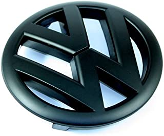Matte Black Front Grille Emblem For VW MK6 Golf GTI R 2.0T 2.5 Rabbit Jetta Sportwagon