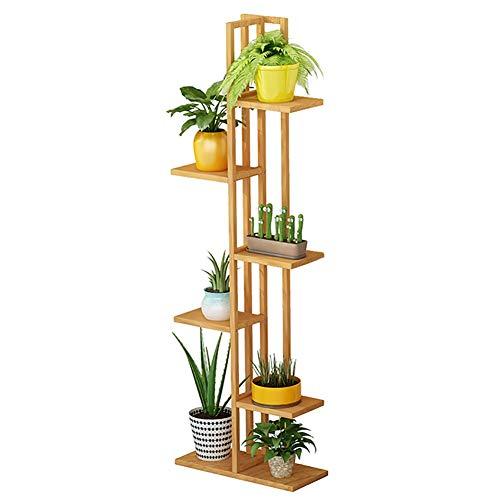 Étagère à Fleurs- Bambou 6 Couches 7 en Pot Support pour Plante - Balcon/Bureau/Coin Support D'échelle de Fleurs Extérieur Intérieur, Étagère À Pot À Bonsaï (Size : 6 Tier)