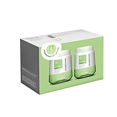 simplehuman Cucumber Foam Hand Soap, 10 Fl. Oz. Foam Cartridges (2 pack)