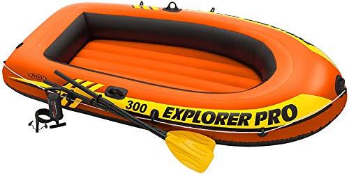 Intex 58357NP - Barca hinchable Explorer Pro 200 con remos e hinchador - 169 x 102 x 33 cm