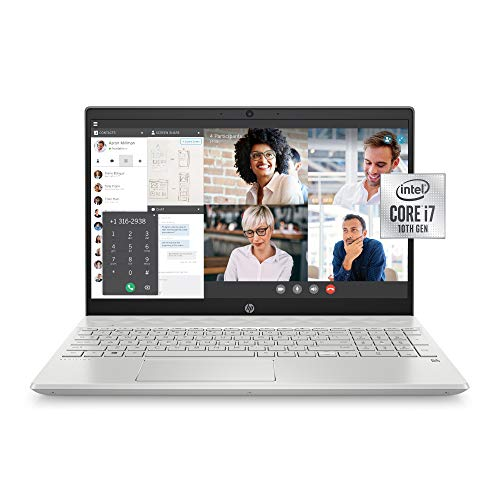 HP Pavilion 15-inch Laptop, Intel Core i7, 16 GB RAM, 512 GB SSD Storage, Intel Iris Plus Graphics, Windows 10 Pro, Amazon Alexa Voice Compatible (15-cs3019nr, Mineral Silver)