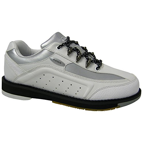 Elite Platinum White Right Hand Bowling Shoes - Womens 7.5