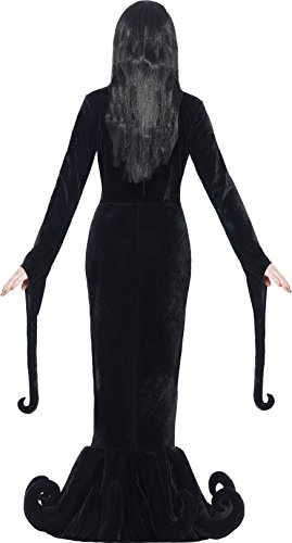 Smiffy's  24419 - Duchess of the Manor Costume per travestimento per donna, abito lungo con orlo dettaglio, nero, S