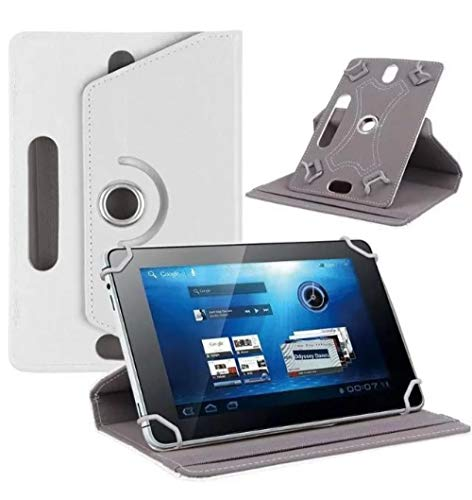 Für Acer Iconia A 10 B3-A50 B3 A50 A40 A30 A20 A10 10,1-Zoll-Tablet-Rotationsschutz Universal Tablet PU-Lederhülle-Weiß